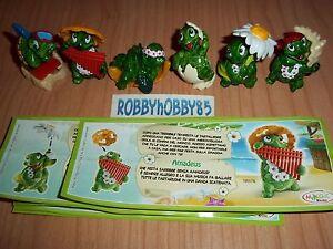Serie Completo Tartallegre (TR175-TR182) + 6 Bpz Con Texto Kinder Italia 2012