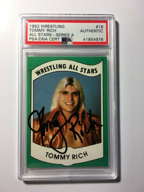 Tommy Rich 1982 Wrestling All Stars #18 Series A PSA DNA Cert Autograph Auto WWE