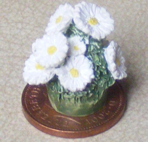 Montón de escala 1:12 flores blancas de cerámica para un tumdee aproximadamente de Casa de Muñecas