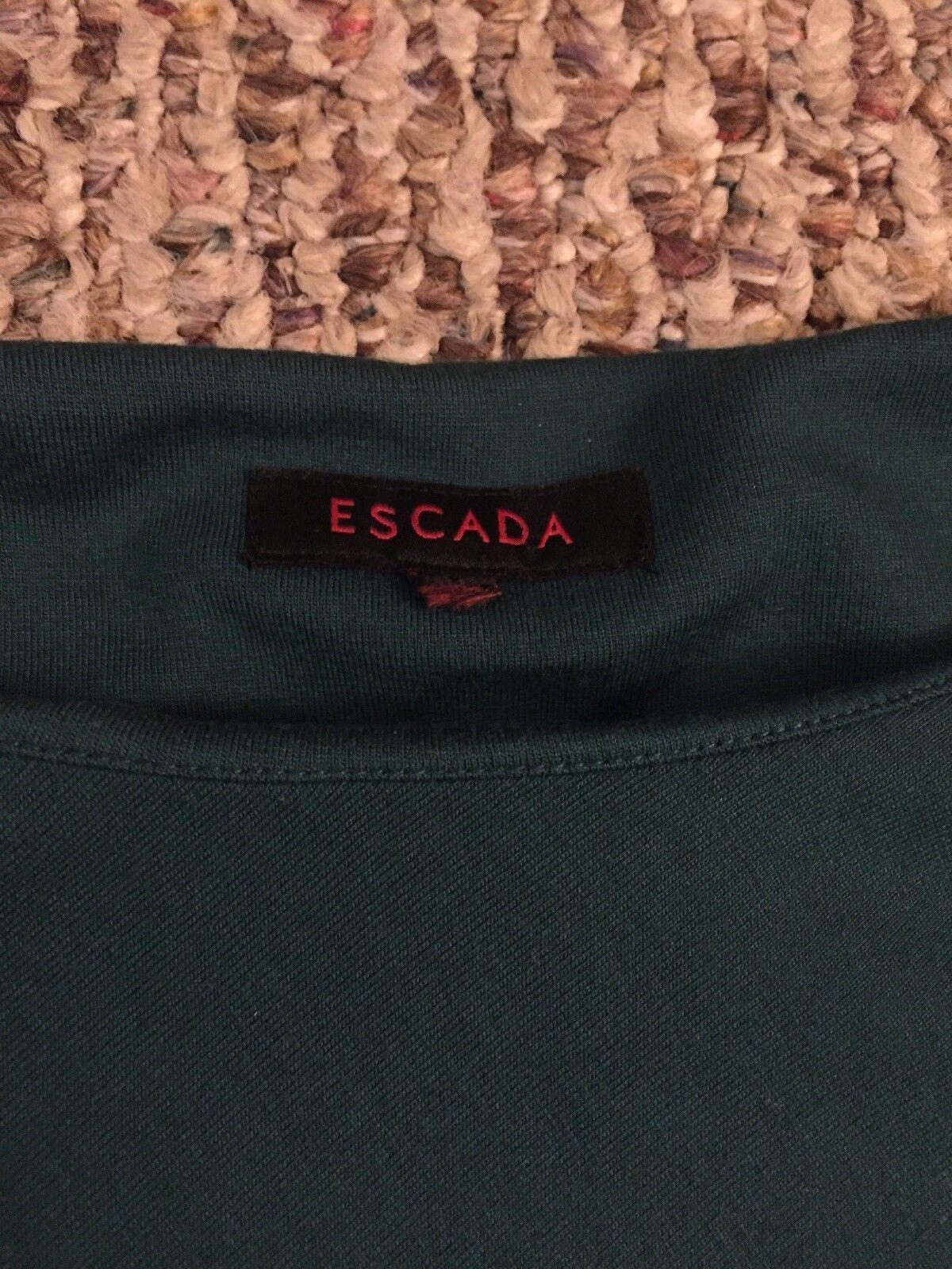Escada Long Sleeve Modal Silk Shift Dress Dress Dress Sz 42 bb5587