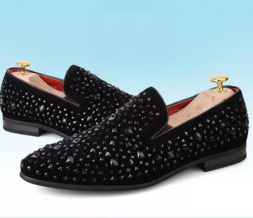 Men loafers rivet New  studs slip On Dress Formal Punk Clubwear Chic Shoes