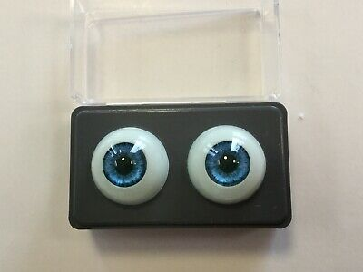 Solid Glass Doll Eyes 20mm Light Violet ~ In Original Packaging New