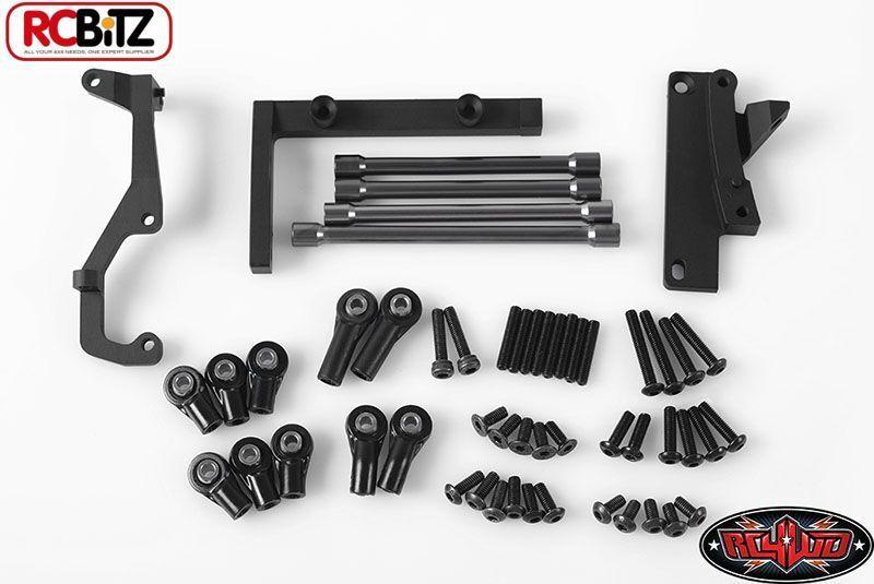Telaio montato Sterzo Servo Kit W    PANHARD BAR assiale SCX10 CMS z-s0923 RC4WD  economico e di alta qualità