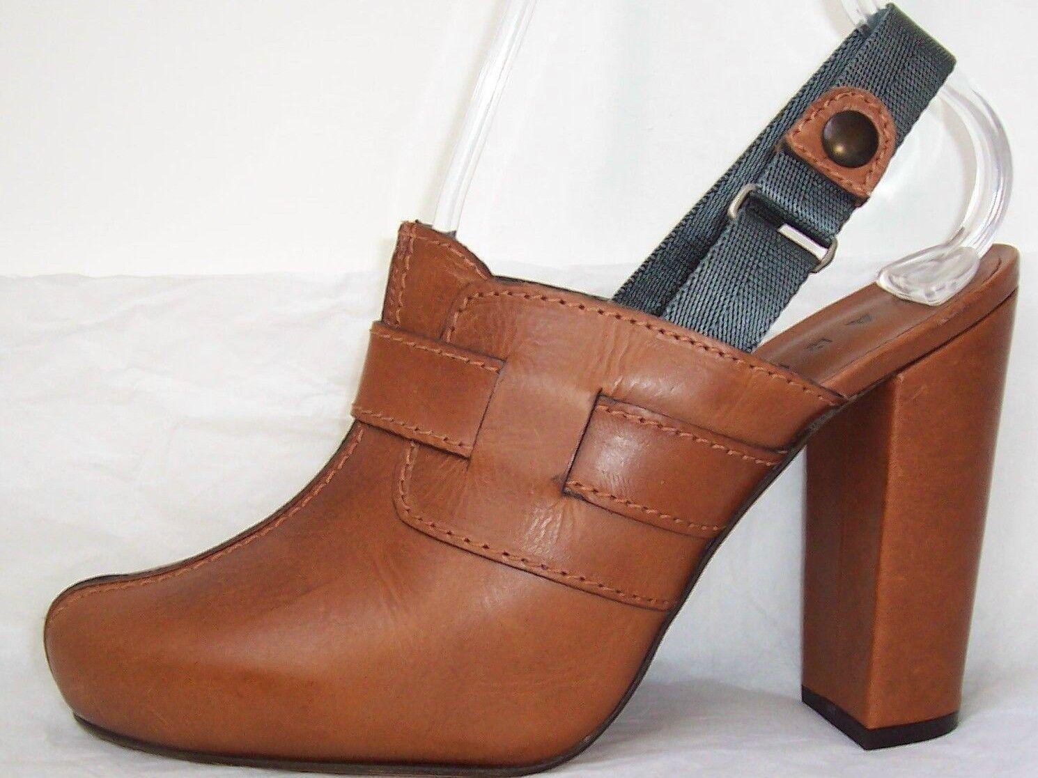 shopping online e negozio di moda MARNI Marrone Leather Clog Clog Clog Slingback scarpe 39 9 or 40 10  benvenuto per ordinare