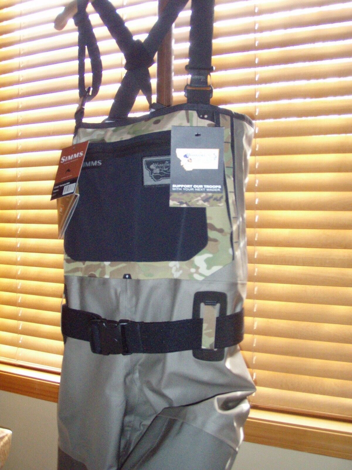 SIMMS CAMO WQW LIMITED EDITION MEN'S SIZE LARGE(9-11) G-3 GUIDE WADERS