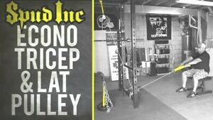 Spud-Econo-TRICEP-amp-LAT-PULLEY-Pulldown-Machine-Cable-Attachment-Olympic-Plates