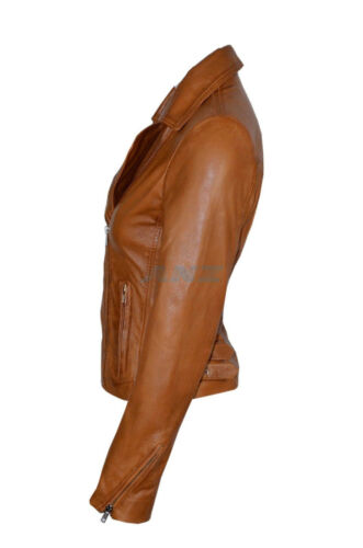 Lambskin Washed Womens Ladies Clea Jacket Soft Nappa Tan Leather Waxed Short Sw0ISxqpA