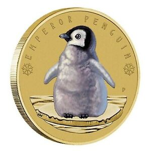 2017-AAT-Emperor-Penguins-Tuvalu-1-Dollar-Coloured-UNC-Coin-Carded