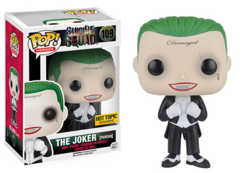 Funko BNIB Free Shipping Vinyl Suicide Squad Joker Tuxedo US Exclusive Pop