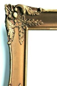 SM ANTIQUE FIT 9X12 GOLD PICTURE FRAME WOOD GESSO ORNATE FINE ART FRENCH BAROQUE