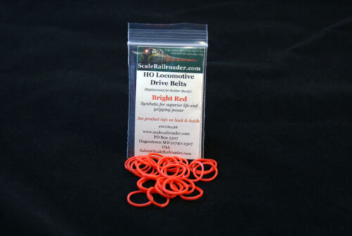 HO Drive Belt ATH90101 Bright Red 50 Hustler RDC Plow F3 F7 GP9 Rubber Band