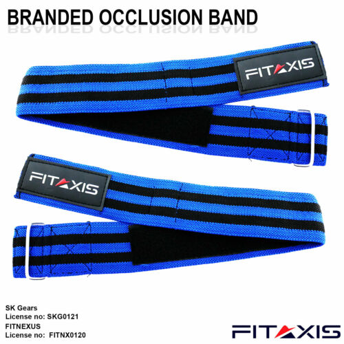 FITAXIS Blood Flow Restriction Band Muscle Strength Arm Straps Fitness Wraps New