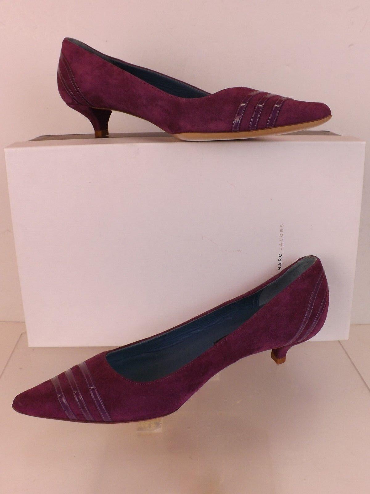 Nuevo Marc Jacobs púrpura en Punta de Gamuza Gamuza Gamuza Tacón Gatito Zapatos De Salón 37 Italia  diseño simple y generoso