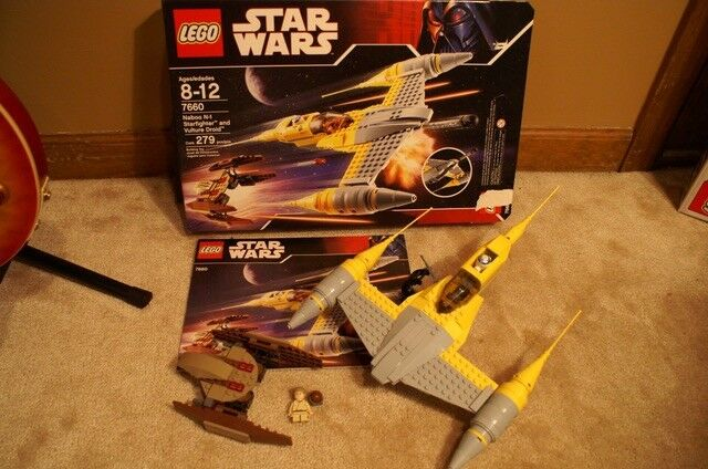 Lego Lego Lego Star Wars Naboo Starfighter 7660 100% complete w box w box and minifigures c4f874