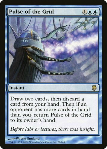 Pulse of the Grid Darksteel NM-M Blue Rare MAGIC THE GATHERING MTG CARD ABUGames