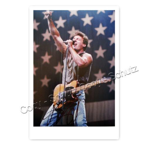 Bruce Springsteen Autogrammfotokarte laminiert