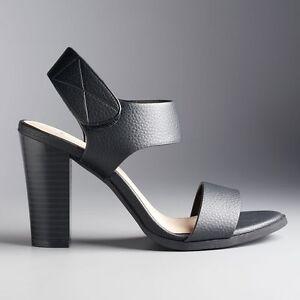 7b0eba33601fc9 NWT Women s Simply Vera Vera Wang Joan High Heel Sandals Shoes ...
