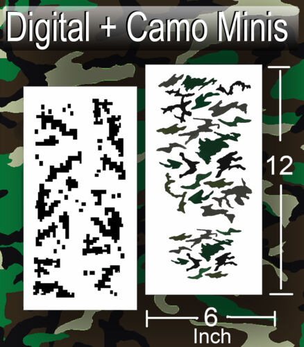 airbrush stencil Camo Digital Woodland Small Templates Stencils Spray Vision