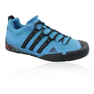 Adidas Mens Terrex Swift Solo Chaussures De Marche Bleu Extérieur Respirant