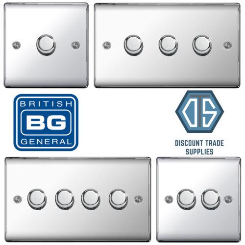 BG Chrome Poli Miroir DEL variateur d/'intensité NPC81P NPC82P NPC83P NPC84P 2 Way