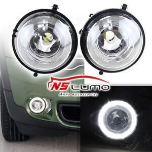 Details About Halo Angel Eyes Style Led Drl Daytime Running Lights Fog Lamps For Mini Cooper