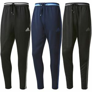 BLACK-Adidas-MEN-039-S-3-STRIPE-CONDIVO-16-TRACK-PANTS-BOTTOMS-TRACKIES-ESSENTIALS