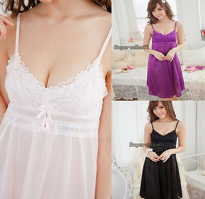 Harness Lace Women Lingerie Sexy Slit Chiffon Skirt Pajamas Ultimate Temptation