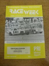 31/08/1984 Raceweek: News Pictorial & Race Programme - Crayford Stadium & 02/09/