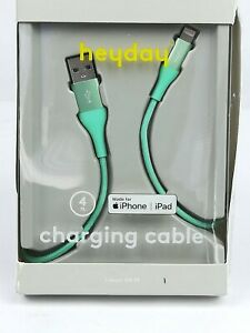 iPhone-iPad-Charging-Cable-Fashion-Green-4-Foot-Lightning-to-usb