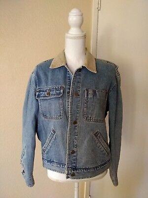 Romantic Vtg Lauren Ralph Lauren Denim Trucker Jean Jacket Pm Petite Medium Over-sized Clothing, Shoes & Accessories