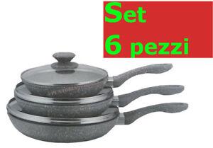 Set-padelle-antiaderenti-pietra-6-pezzi-3-padelle-3-coperchi-colorate-Bavaria