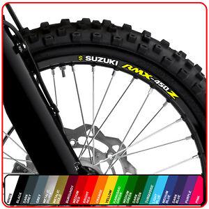 SUZUKI RMX 450 z wheel rim stickers decals - choice of 20 colours - 450z enduro