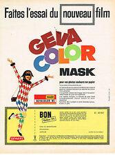 PUBLICITE ADVERTISING 034   1963   GEVAERT   GEVACOLOR  film MASK