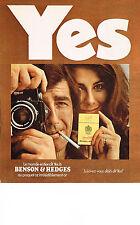 PUBLICITE  1971   BENSON & HEDGES  cigarettes
