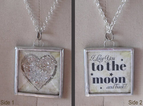 Glitter Heart - To the Moon Charm by IMCC - Crystal Dangle by Jewel Kade Plunder