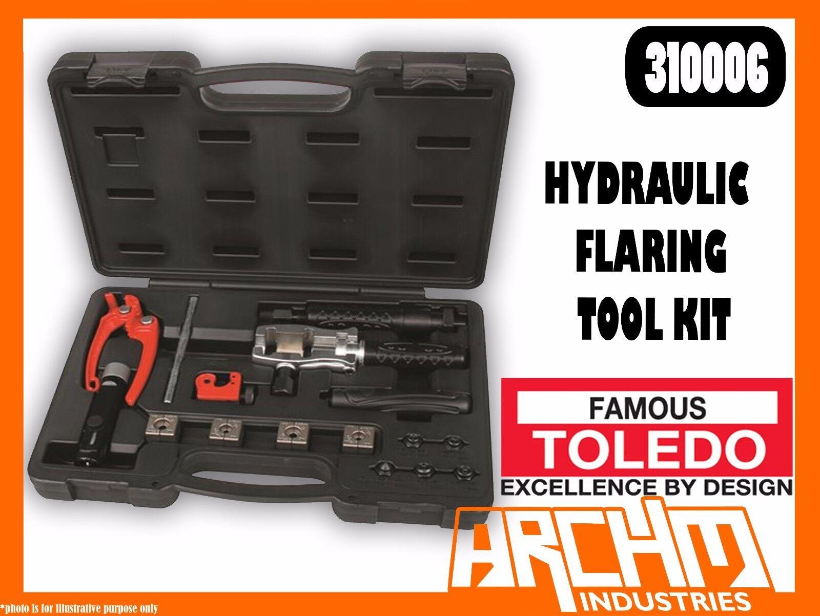 TOLEDO 310006 - HYDRAULIC PIPE FLARING TOOL KIT -  COPPER BRASS ALUMINIUM STEEL
