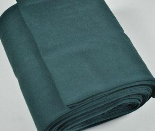 Punto elástico de estiramiento//collar//Puño De Tela-Liso Verde Oscuro HW-algodón Lycra Medio M