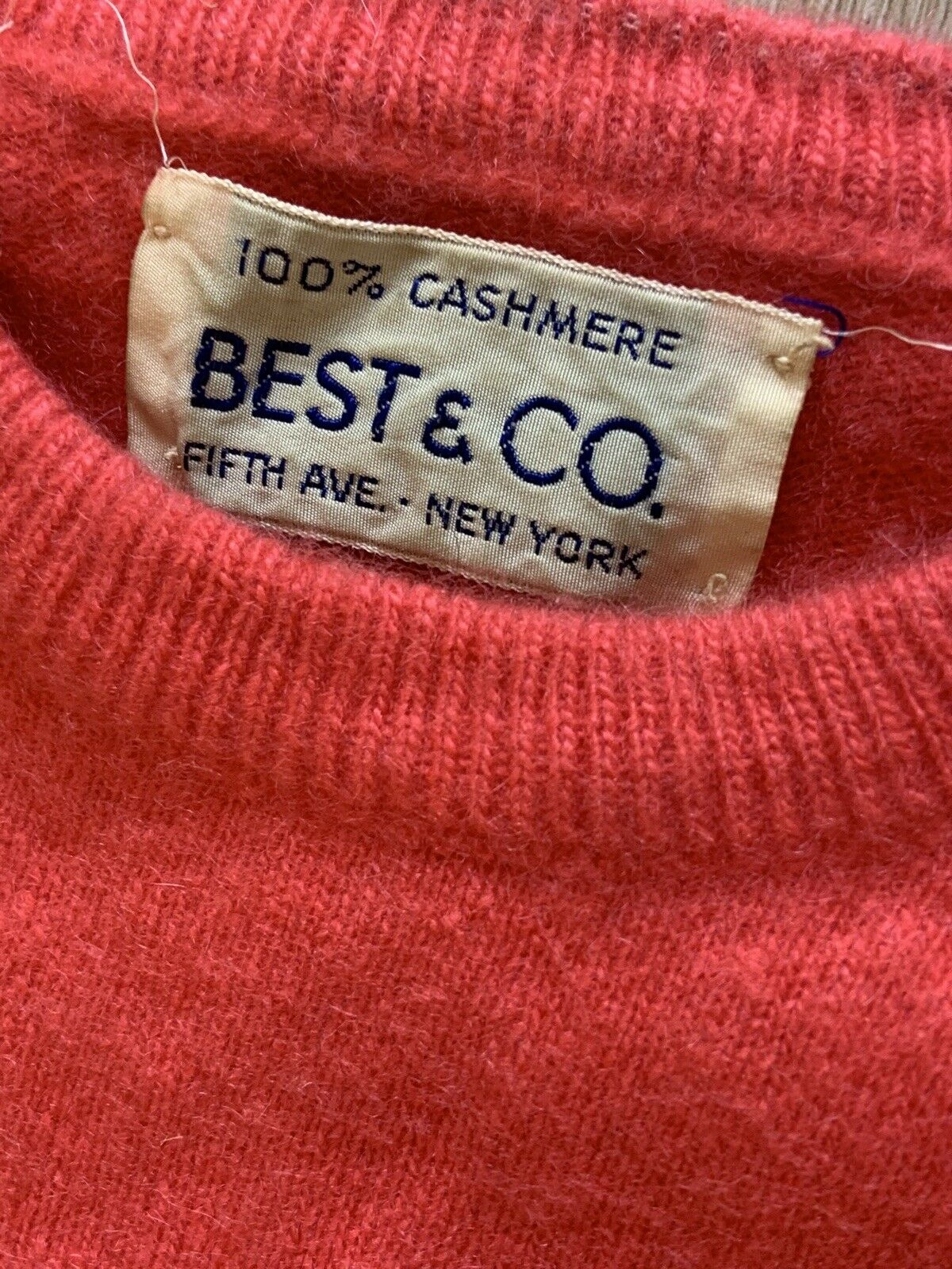 1950's Best & co Cashmere Pink Sweater Med/large … - image 5