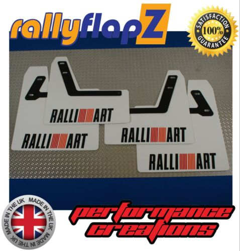 MITSUBISHI LANCER EVO 7-9 ANTERIORE KIT-BIANCO 4mm PVC Ralliart Logo BLK BRK