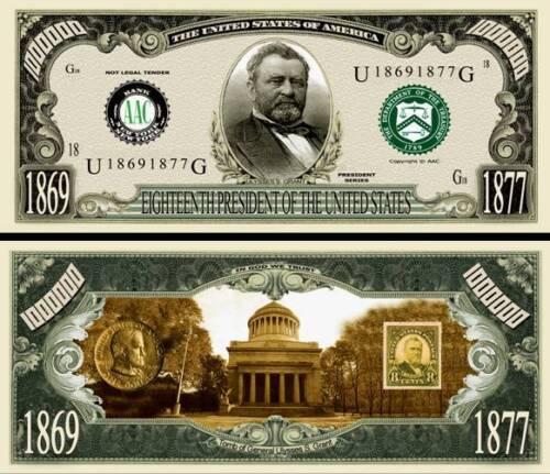 FREE SLEEVES Set of 45 US Presidents Million Dollar Bill Funny Money Novelty
