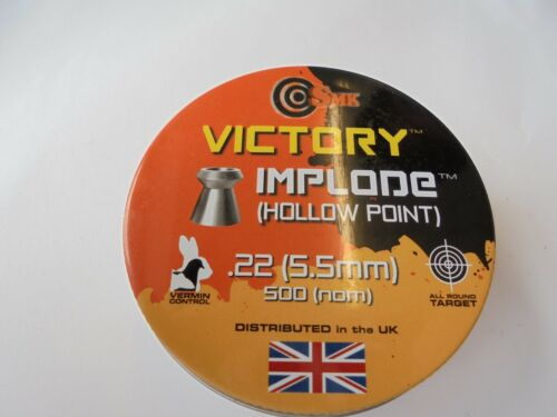 5.5mm x 125 Victory Implode hollow point pellets .22