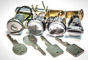Ignition-Barrel-Door-Lock-amp-Boot-Holden-HK-HT-HG-New-Set-of-4-With-Keys