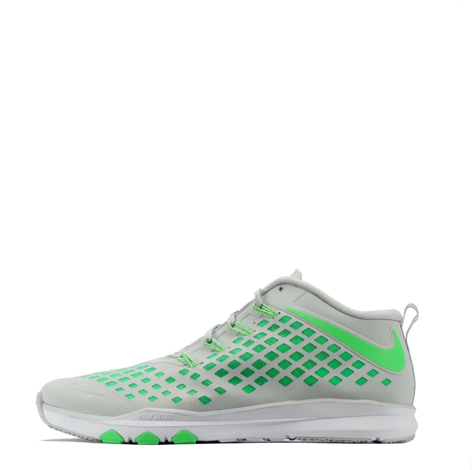 Nike tren rápido para Hombres con Cordones Zapatos deportivos de entrenamiento de baja altura en Platino Puro