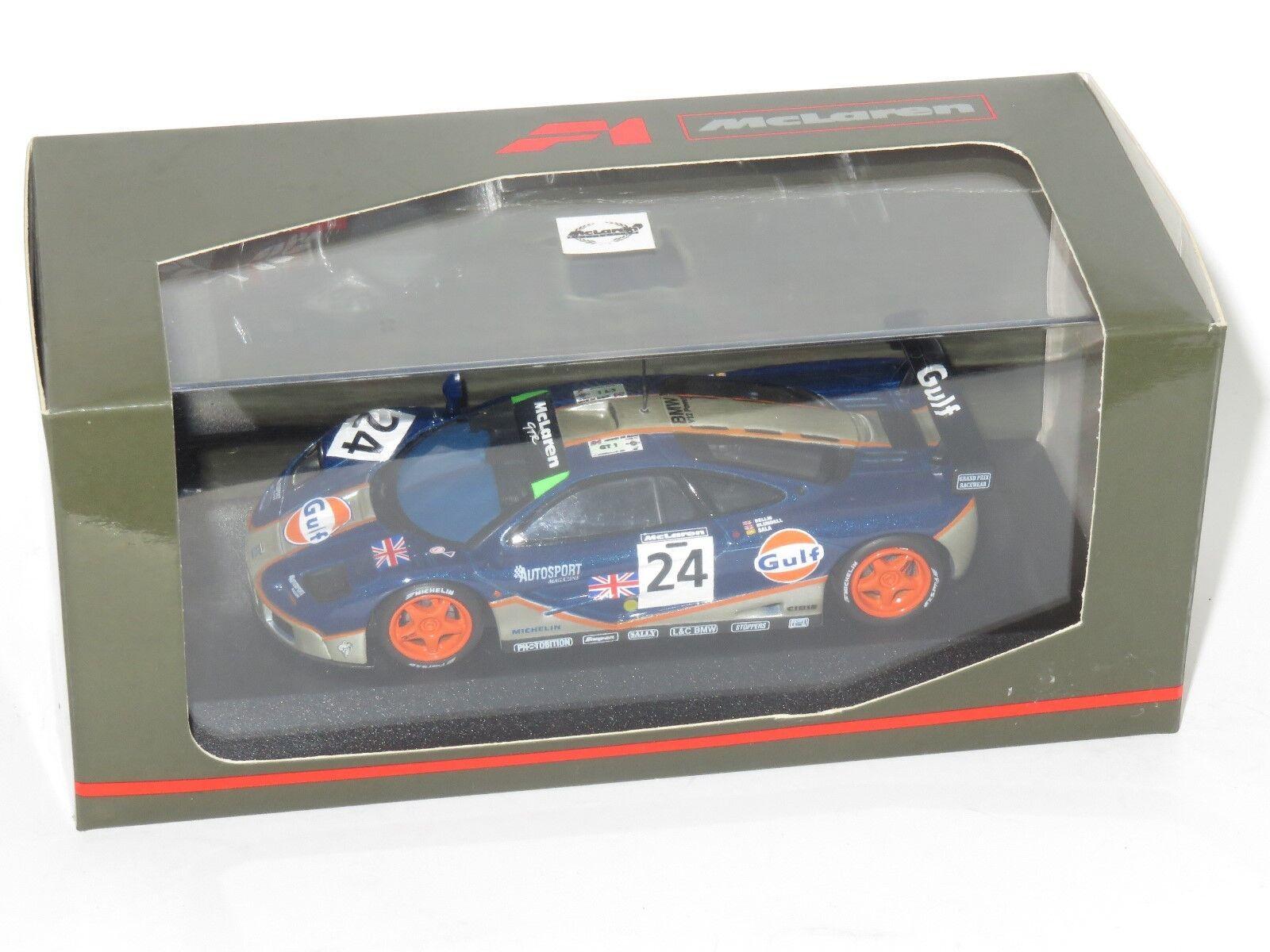 1 43 McLaren F1 GTR  Le Mans 24 Hrs 1995 Gulf Racing  Bellm bluendell Sala