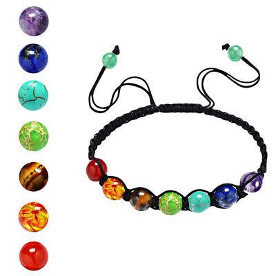 7 Chakra Healing Balance Beaded Bracelet Lava Yoga Reiki Prayer Stones Ttd Ein Unverzichtbares SouveräNes Heilmittel FüR Zuhause