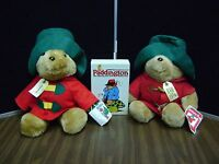 Vintage Paddington Bear Lot Plush x 2 and  Book Set  ***LOOK***