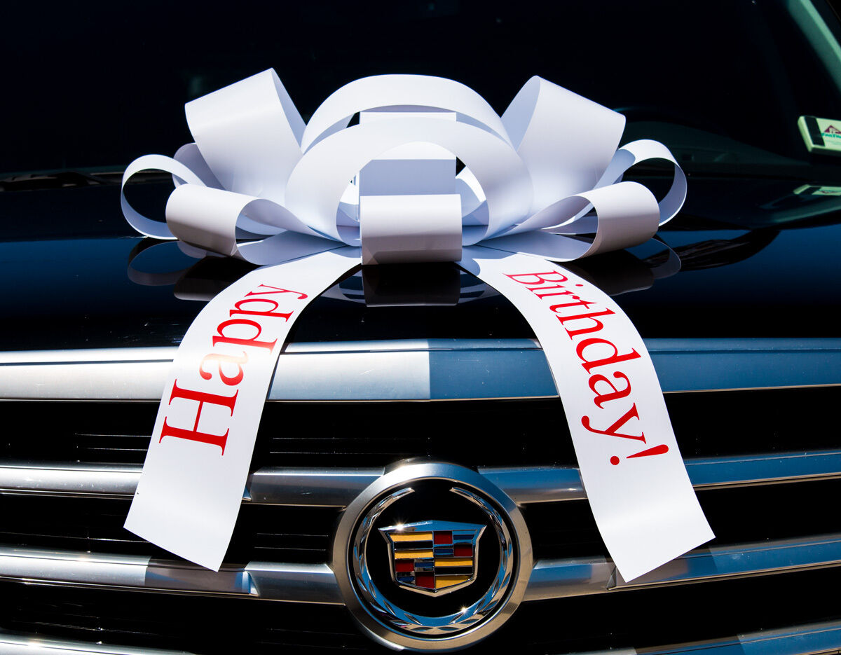 Details About Happy Birthday Car Bow