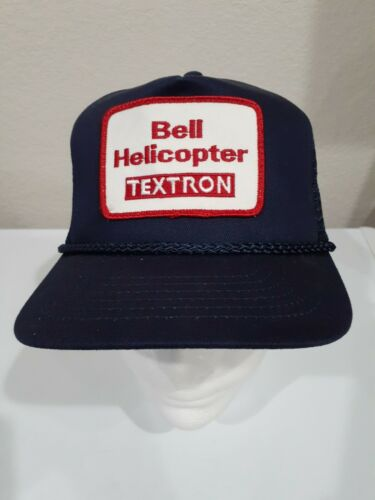 Vintage 90's Blue Bell Helicopter Textron Snapback