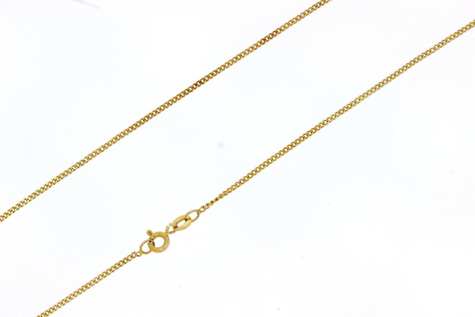 6681-585er yellowgoldkette Lang 38 cm Breit 1,42 Stark 0,75 mm Gewicht 2,6 Gramm