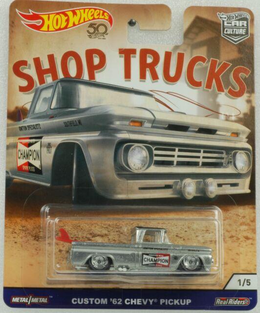 1:64 Hot Wheels Shop Trucks Car Culture Custom 62 Chevy Pickup 2018